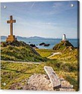 Llanddwyn Island Bench Acrylic Print