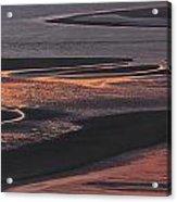 Llansteffan Sunset Glow Acrylic Print
