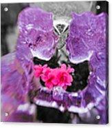 Lovers Frozen Kiss Acrylic Print
