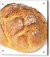 Loaf Of Bread On White Acrylic Print