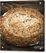 Loaf Of Multigrain Artisan Bread Acrylic Print by Elena Elisseeva