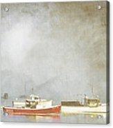 Lobster Boats At Anchor Bar Harbor Maine Acrylic Print by Carol Leigh