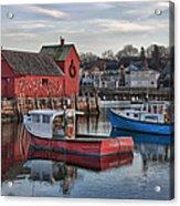 Lobster Boats At Motif 1 Acrylic Print