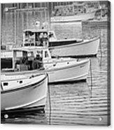 Lobster Boats In Bass Harbor And Bernard Maine  Acrylic Print