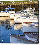 Lobster Boats - Perkins Cove -maine Acrylic Print
