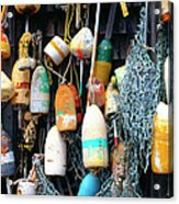Lobster Buoys Fishermans Shed Acrylic Print