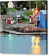 Lobster Fishing Days End Acrylic Print
