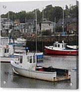 Lobster Fleet Rockport Harbor Acrylic Print