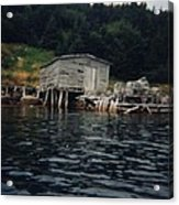 Lobster Pots And Old Stage Acrylic Print