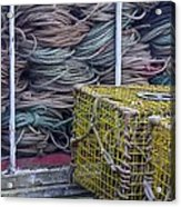 Lobster Traps And Ropes Acrylic Print by Stuart Litoff