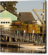 Lobster Traps On Dock Acrylic Print