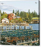 Lobster Village In Autumn, Southwest Acrylic Print