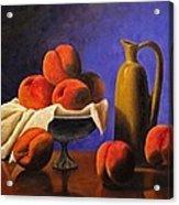Local Peaches Oil Painting Acrylic Print