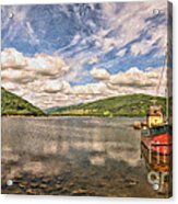Loch Fyne Digital Painting Acrylic Print