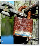 Lock And Chain Acrylic Print