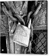 Locked - Black And White Acrylic Print