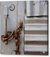 Locked Acrylic Print by Peter Tellone