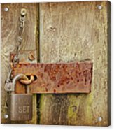 Locked Shut Acrylic Print