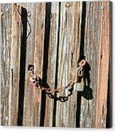 Locked Wood Acrylic Print