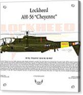 Lockheed Ah-56 Cheyenne Acrylic Print by Arthur Eggers