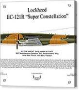 Lockheed Ec-121r 553rs Korat Rtafb Acrylic Print by Arthur Eggers