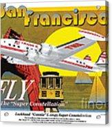 Lockheed L-1049g Super Constellation Acrylic Print
