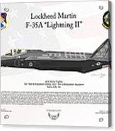 Lockheed Martin F-35a Lightningii Acrylic Print