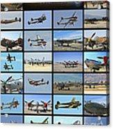 Lockheed P-38 Poster Acrylic Print