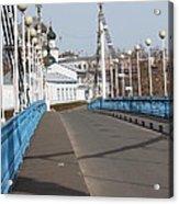 Locks On Bridge Acrylic Print