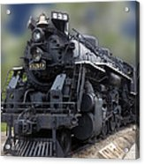 Locomotive 639 Type 2 8 2 Front And Side View Acrylic Print