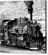 Locomotive Black And White Train Steam Engine Acrylic Print