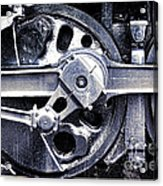 Locomotive Drive Wheels Acrylic Print by Olivier Le Queinec
