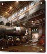 Locomotive - Locomotive Repair Shop Acrylic Print