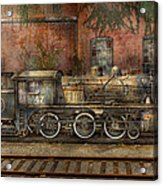 Locomotive - Our Old Family Business Acrylic Print by Mike Savad