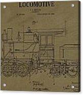 Locomotive Patent Postcard Acrylic Print