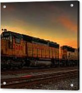 Locomotive Sunset Acrylic Print