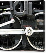 Locomotive Wheels Acrylic Print
