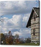 Log Cabin And November Sky Acrylic Print