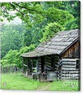 Log Cabin Fort New Salem Acrylic Print