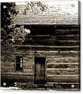 Log Cabin Home Acrylic Print by Brenda Donko