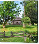 Log Cabin In The Trees Acrylic Print