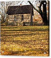 Log Cabin On A Hill Acrylic Print