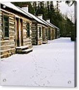 Log Cabins In Fort Wilkins Acrylic Print