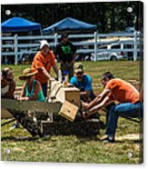Log Cutting Competition Acrylic Print
