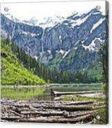 Log Jam In Avalanche Lake In Glacier Np-mt   Acrylic Print