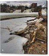 Log On Otter Creek Acrylic Print