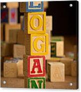 Logan - Alphabet Blocks Acrylic Print