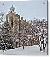 Logan Temple Winter Acrylic Print