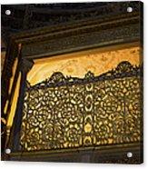Loge Of The Sultan In Hagia Sophia  Acrylic Print