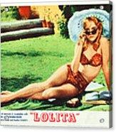 Lolita, Sue Lyon On Lobbycard, 1962 Acrylic Print